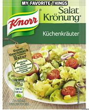KNORR cucina Erba Condimento per insalata mix dalla Germania 5 x 10g BUSTINE GRATIS UK