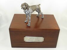Beautiful Paulownia Wooden Personalized Urn German Shorthaired Pointer Figurine