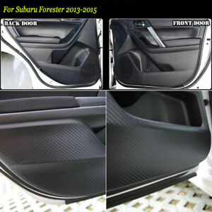 Carbon Fiber Door Side Anti-kick Protection Sticker Trim For Subaru Forester 13+