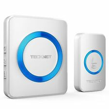 Wireless Doorbell TeckNet Waterproof Wall Plug-in Cordless Door Chime Kit With