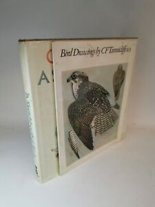 2 Books of Bird Drawing and Sketches by Charles F Tunnicliffe