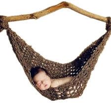 Newborn Baby Girl Boy Photography Prop Photo Pure Handmade Yarn Hammock