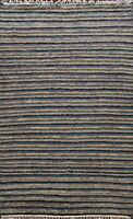 Striped Modern Moroccan Oriental Area Rug Hand-knotted Home Decor 8'x10' Carpet