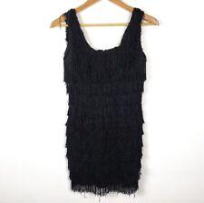 Vintage Black Dress Roberta Black Mini Cocktail Night Out Sleeveless Flapper Guc