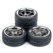 4Pcs 12mm Rubber Tires Wheel PP0038+PP0150 Hex HPI Racing RC 1:10 On Road Car