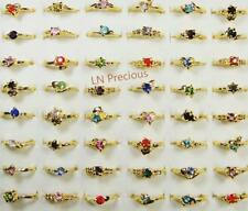 30pcs rhinestone gold-plated rings wholesale lots Fashion women free shipping