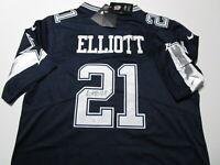 EZEKIEL ELLIOTT / AUTOGRAPHED DALLAS COWBOYS PRO STYLE FOOTBALL JERSEY / COA