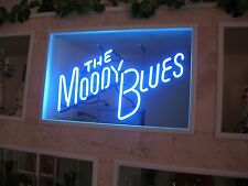 Very Rare Moody Blues Neon Sign - Record Store Display For Octave Album Ex/Cond