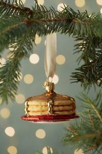 NWT Anthropologie Short Stack Pancake Christmas Ornament