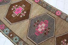 "Vintage Handmade Turkish Oushak Nursery Runner Rug Carpet 121""x45"""