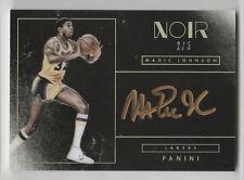 2015/16 PANINI NOIR MAGIC JOHNSON AUTO AUTOGRAPH CARD #NC-MJS NUMBERED 2/5
