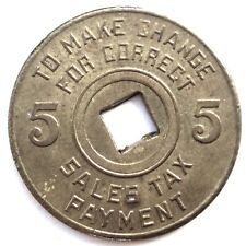 US, TAX COMMISSION MISSISSIPPI 5 CENTS Token 22.55mm 3g Brass. O9.3