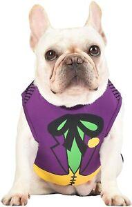 The Joker Dog Costume Shirt - XS - Purple/Green - DC Comics NWT