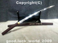 Japanese Ninja Sect Shrine Samurai Sword Katana Carbon Steel Wood Sheath Sharp