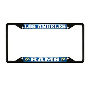 Fanmats NFL Los Angeles Rams Black Metal License Plate Frame Del. 2-4 Days