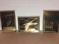 3 star trek 24 karat gold next generation trading cards