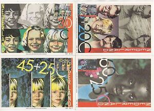 1981 NETHERLANDS - 4 x First Day Cover PHQ Postcards CHILD & HANDICAPPED WELFARE