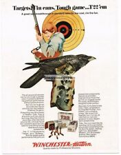 1971 WINCHESTER-WESTERN T22 Rimfire Bullets Ammunition Crow Tin Can Vtg Print Ad