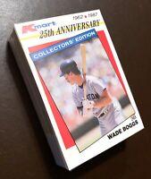 "50) WADE BOGGS Boston Red Sox 1987 Kmart ""25th Anniversart"" Baseball Card LOT"