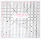 """Crafters Dream Quilting Ruler 12.5"""" x 12.5"""" inches"""