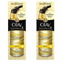 2 Olay Total Effects Moisturiser & Serum 2-In-1 Duo SPF20 NonGreasy Formula 40ml