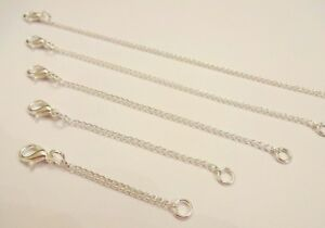 """Silver plated necklace or bracelet extender 2"""" 3"""" 4"""" 5 extension chain up to 20"""""""