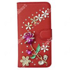 For Motorola Case Leather Wallet Cell Phone Cases Flip Cover 3D Diamond Bling
