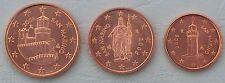 1+2+5 Euro Cent San Marino 2006 unz