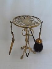 Vintage Brass Fireside Companion set with Stand