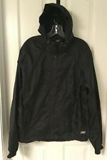 NWT Alpine Design Rain Gear/Windbreaker Black Hiking ER Packable/Pouch Jacket S