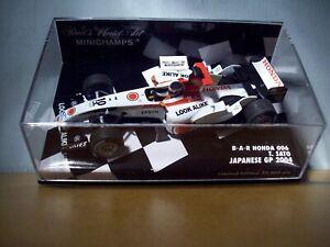1/43 MINICHAMPS 400 040110 BAR HONDA 006 JAPANESE GP 2004 TAKUMA SATO