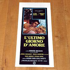 L'ULTIMO GIORNO D'AMORE locandina poster Alain Delon Mireille Darc Molinaro E54