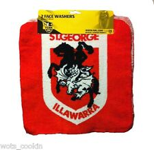 NRL St George Dragons Facewashers Face Cloth Face Washer 2 Pack Official NRL