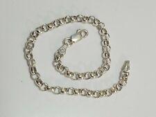 """Vtg .925 Sterling Silver  link Bracelet  7.5""""  4.1g marked Italy"""