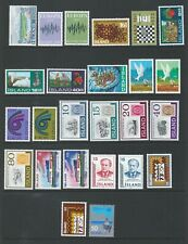 Iceland 1972/3 UMM Complete Years sg 491/515 Cat £30+