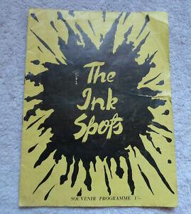 The Ink Spots Jazz Quartet Souvenir Concert Programme 1949