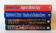 Lot 4 Raymond E. Feist (HC) The Serpentwar Saga #3 4(SIGNED) Darkwar Saga 1 2