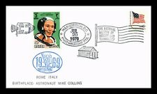 DR JIM STAMPS SPACE ASTRONAUT MIKE COLLINS QATAR USA UNSEALED COVER