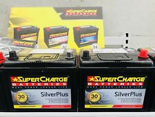 Supercharge Silver 55D23L / R 30 Month Warranty Battery Fits Most Sedan 4WD Cars