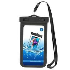 UNDERWATER CASE WATERPROOF BAG PROTECT POUCH COVER TOUCH CLEAR for Smartphones
