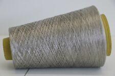 K08 250g 100% REINE SEIDE / PURE SILK WARMES SILBER (15) Wolle Lace