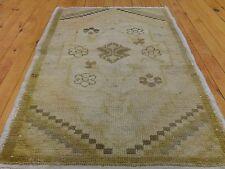 ANCIEN 1930-1939s 55.9cm × 37.0inchesnatural colorants Turc ushak HOUSSE DE