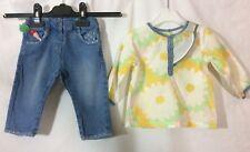 ensemble pantalon jeans et blouse Dpam 6 mois TBE (C809)