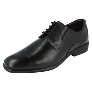 Sale Herren BUGATTI Schwarz Leather Schnürschuhe 313-22001-1000