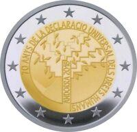 2€ GM Andorra  2018 70. Jahrestag der Allgemeinen Deklaration der Menschenrechte