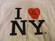 I Big Apple NEW YORK T Shirt Sz XL 100% Cotton Heart White