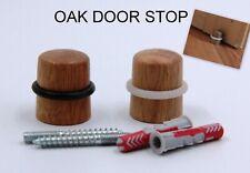 High Quality Wooden Collard Door Stop Stopper Oak Round Floor Wall Protector