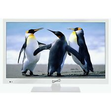 "Supersonic SC-1511 White 15.6"" 1080p LED Widescreen HDTV with HDMI & USB Input"