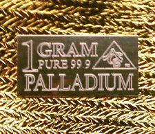 ACB Palladium 99.9 Pure 1 GRAM Precious Metal Very Rare Bullion PD Bar. <