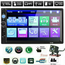 7 Inch DOUBLE 2DIN Car MP5 Player BT Touch Screen Stereo Radio HD+Free Camera